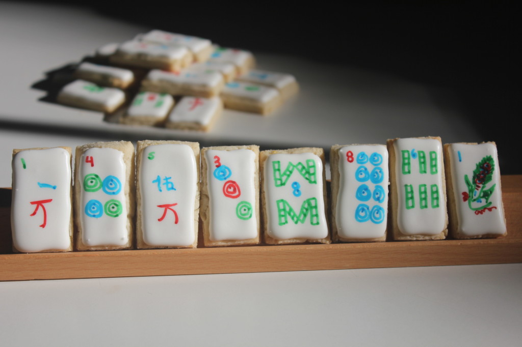 Mahjong Tile Cookies | SugaredAndIced.com