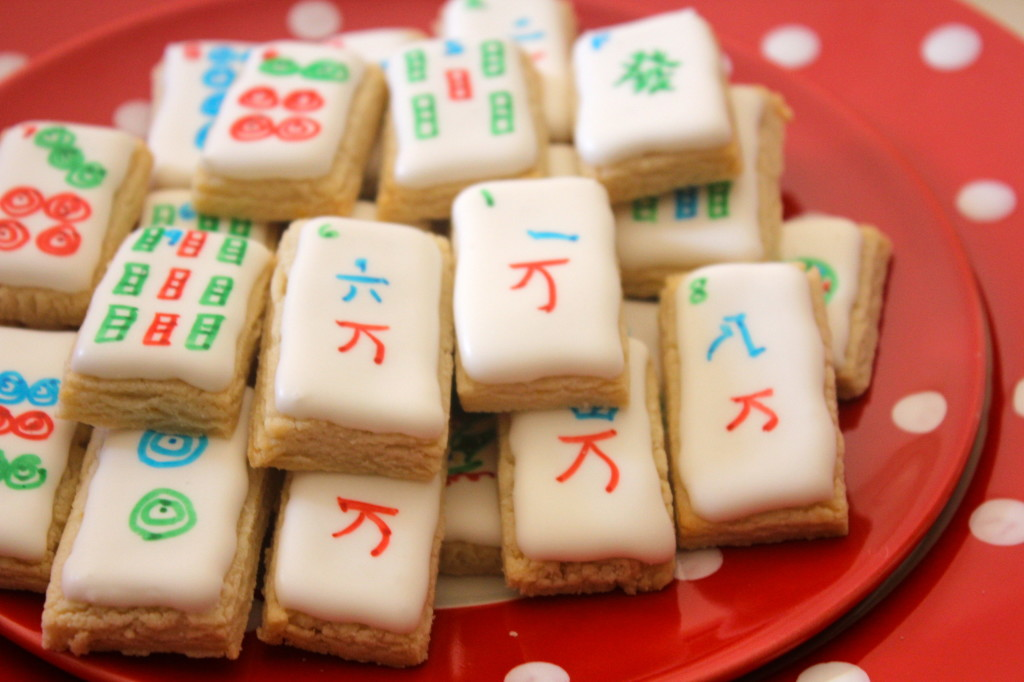Mahjong Sugar Cookies | SugaredAndIced.com
