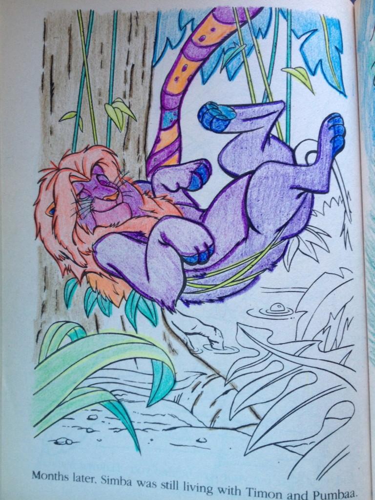 Lion King Coloring Book circa 1990 | SugaredAndIced.com