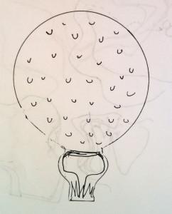 Golf Ball Cookie Design | SugaredAndIced.Com