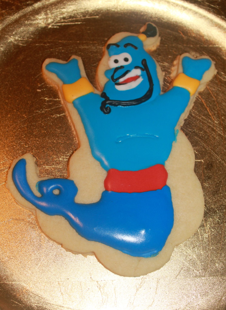 Aladdin Genie Sugar Cookie | SugaredandIced.com