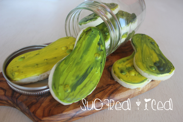 Iced Sugar Cookie Pickles |SugaredandIced.com