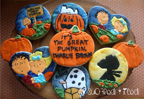 Great Pumpkin Charlie Brown Cookies for Go Bo Bake Sale