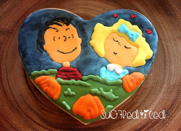 Linus and Sally Great Pumpkin Cookie | SugaredandIced.com