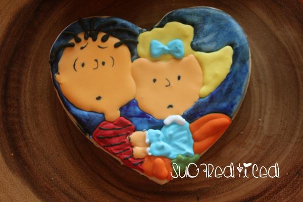 Sally and Linus Great Pumpkin Cookies | SugaredandIced.com