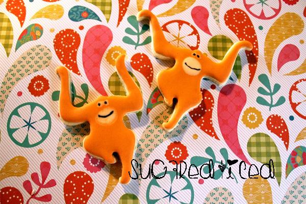 Orangutan Sugar Cookies |SugaredAndIced.com