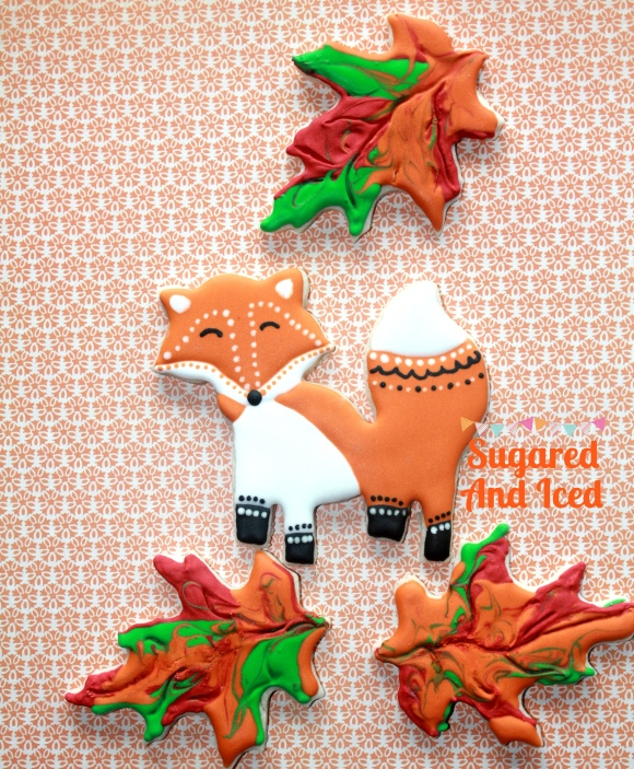 Fall Fox cookie