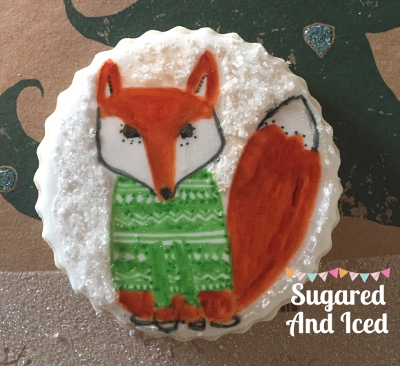 Winter Fox cookie