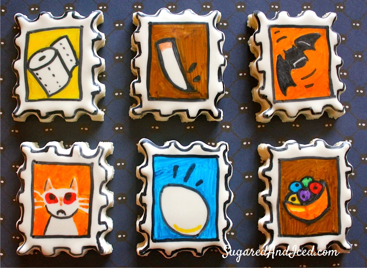 Costume Quest Battle Stamp Cookies