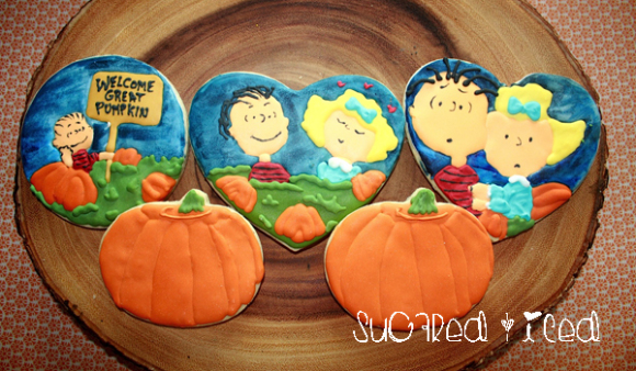 Linus and Sally Great Pumpkin Cookies