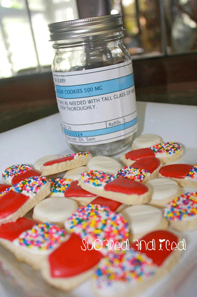 Prescription Cookies Get Well Soon| SugaredAndIced.com