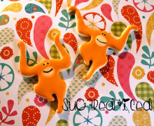 Orangutan Sugar Cookies | SugaredAndIced.com