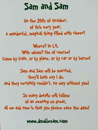 Invitations Anniversary Countdown Day 9 – Save the Date Poems for Weddings