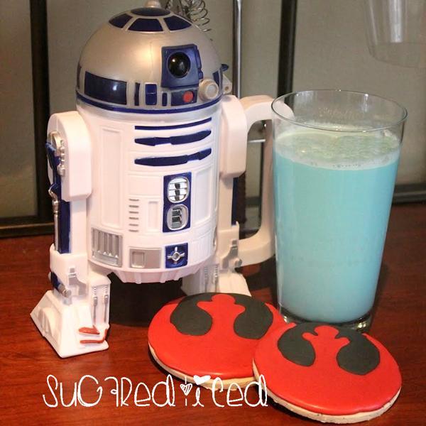 Star Wars Rebel Cookies and Blue Milk Recipe