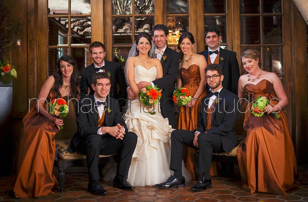 Bridal Party photo Carondelet House Wedding | SugaredAndIced.com