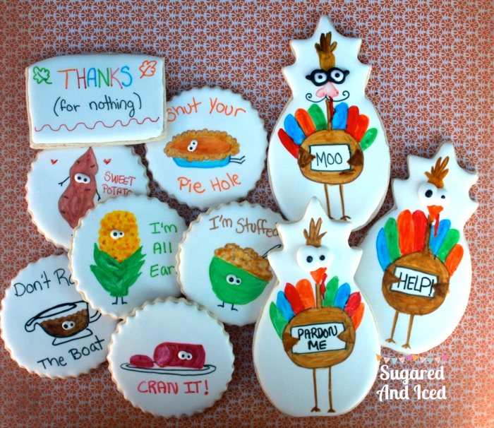 Thanksgiving Sugar Cookies | SugaredAndIced.com