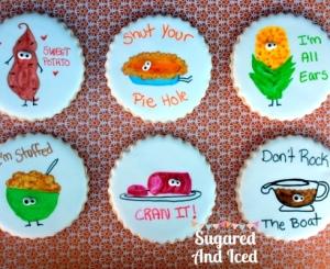 Thanksgiving Cookies | SugaredAndIced.com