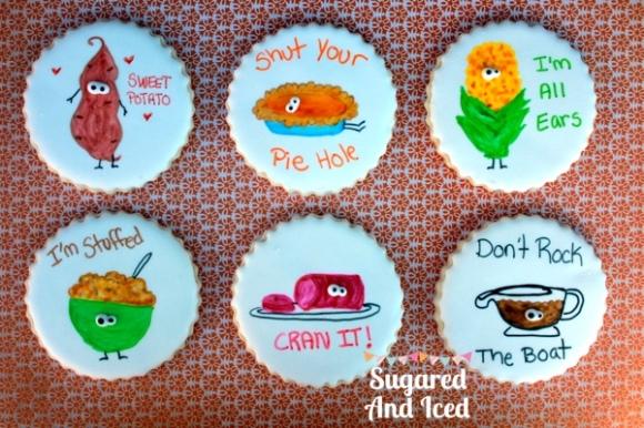 Thanksgiving Foods Sugar Cookies