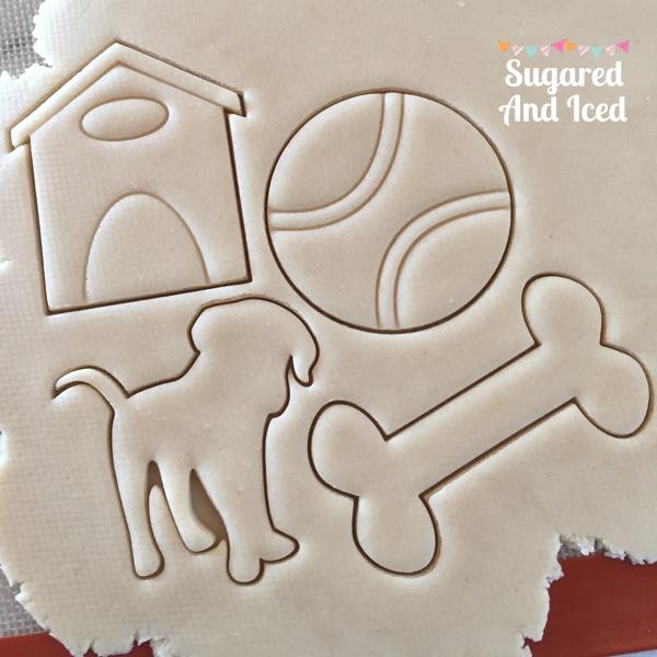 Dog Bone Sugar Cookie Tutorial | SugaredAndIced.com