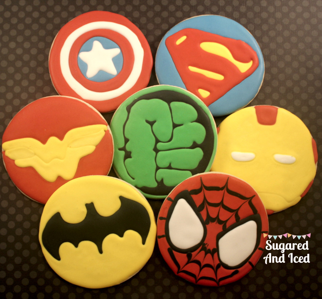Superhero Cookies | SugaredAndIced.com