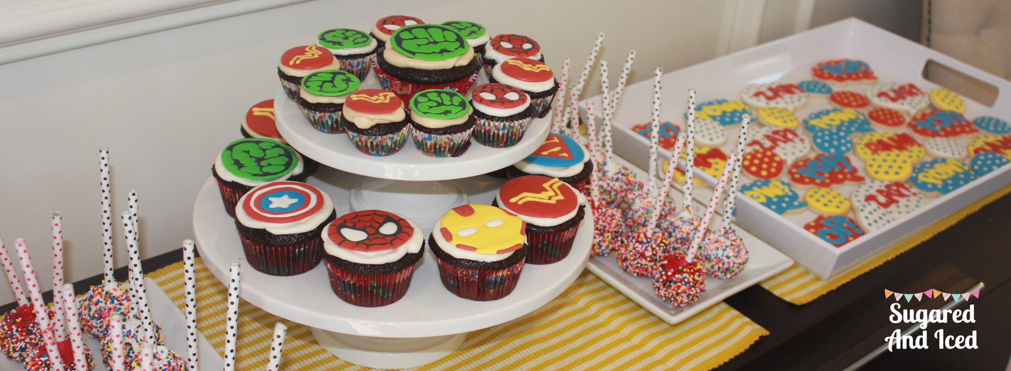 Comic Book Birthday Desserts