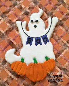 Halloween Ghost Banner Cookie | SugaredAndIced.com