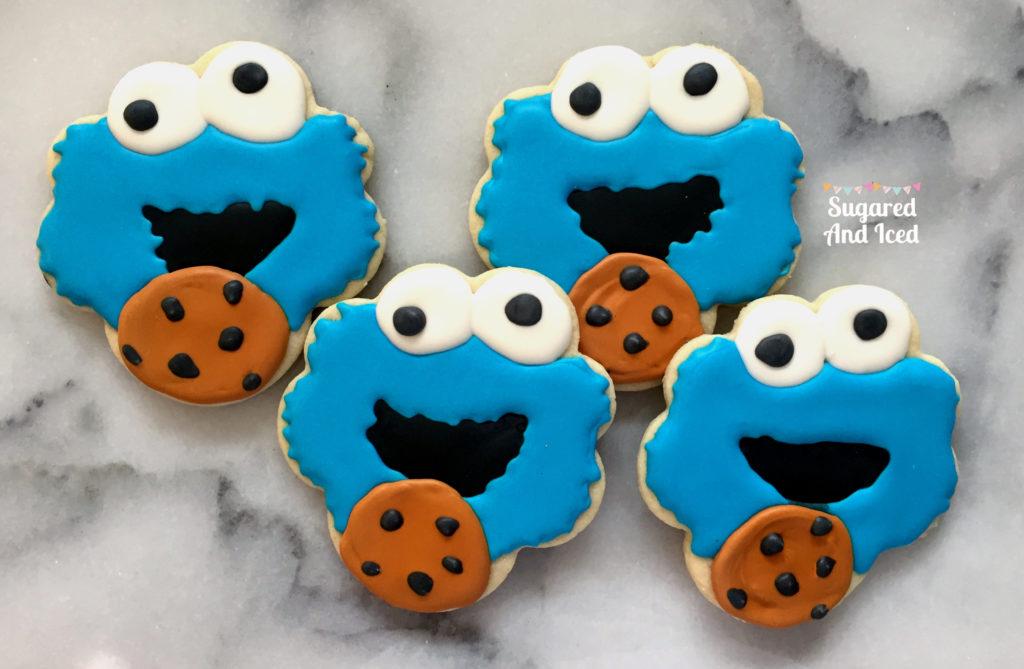 Cookie Monster Cookie   SugaredAndIced