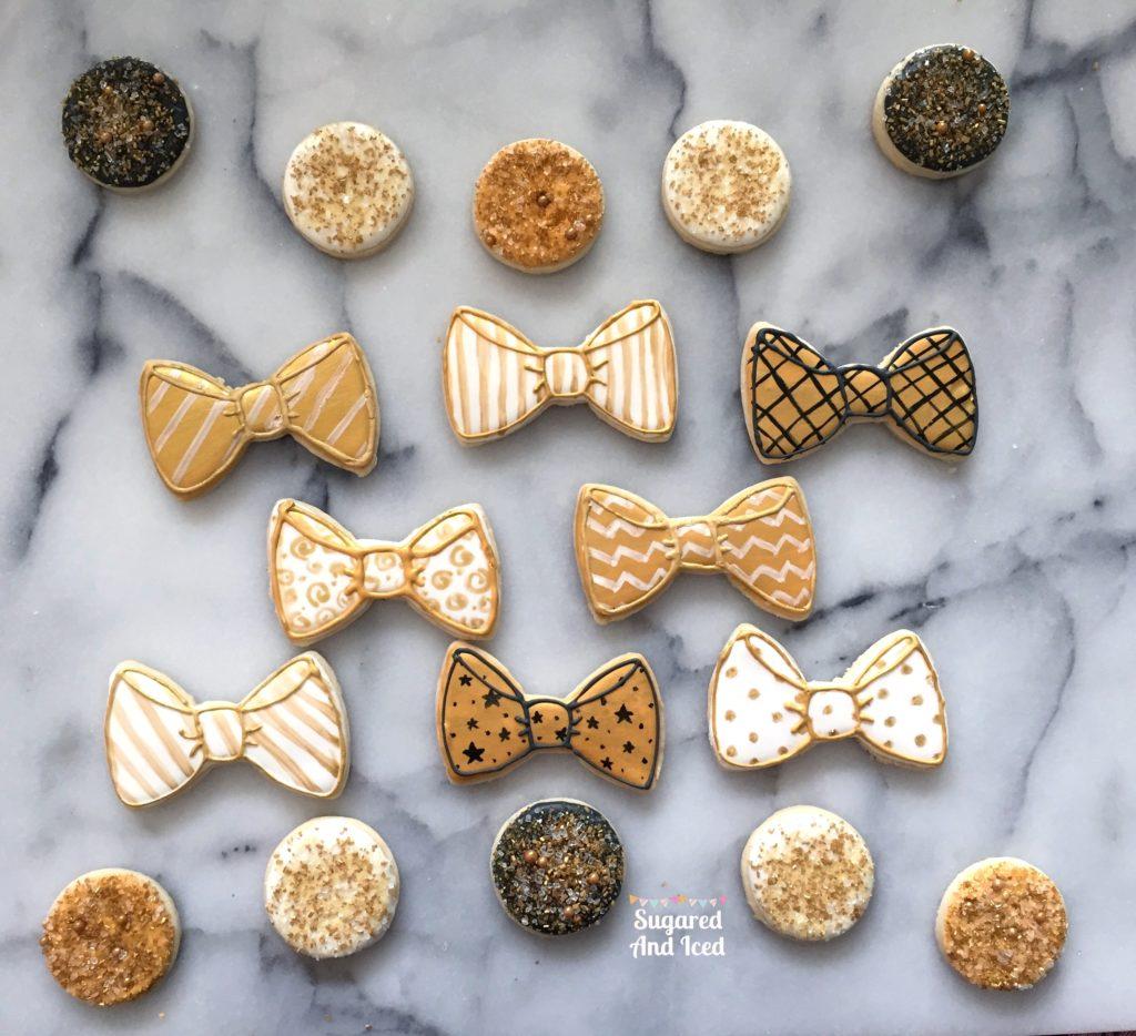 Black and Gold Bowties | SugaredAndIced.com