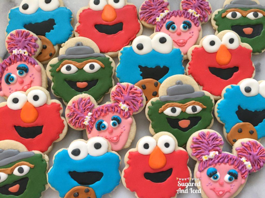 Sesame Street Character Cookies