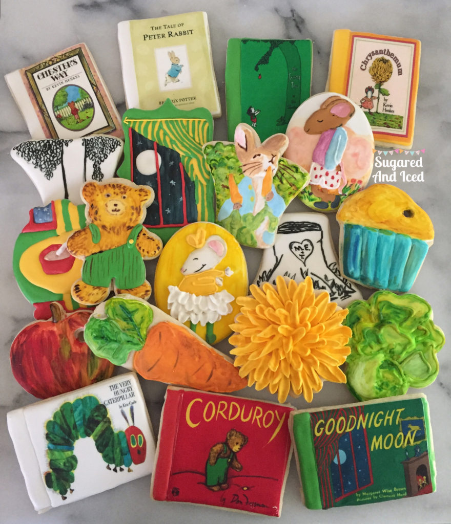 Children's Book Decorated Sugar Cookies | SugaredAndIced.com